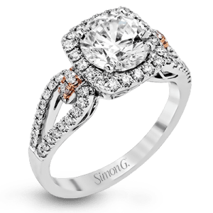 Harry Glinberg Jewelers - 18K White and Rose Gold Engagement Ring
