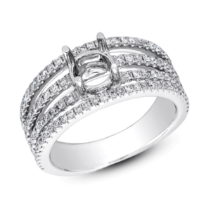 Harry Glinberg Jewelers - WHITE GOLD ENGAGEMENT RING