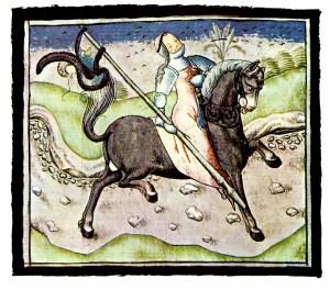 Jeanne d'Arc_ 15e eeuw (uit een boek)