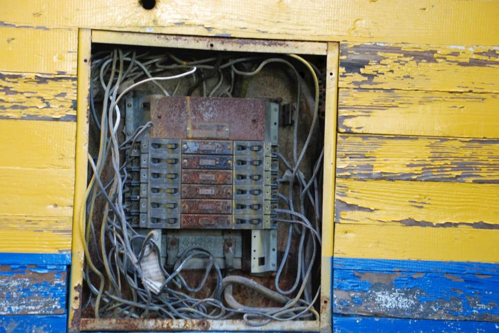 medium resolution of if you electrical panel looks like this call an electrician immediately
