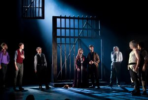 Staging: the set was minimalist but effective and symbolic