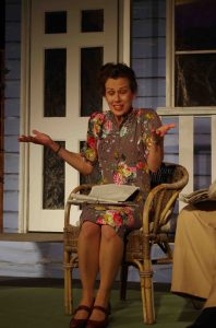 Sharp words: Sian Tutill as the outspoken Sue Bayliss in the play