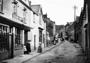 Shopping street: the centre of the village in 1910