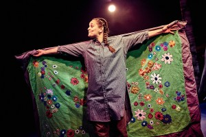 The versatile Heidi Niemi in Travelling Light's The Ugly Duckling. Mark Dawson Photography