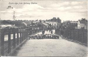 LOST WORLD: this photo from 1907 shows sheep being driven up the rail bridge from Market Street