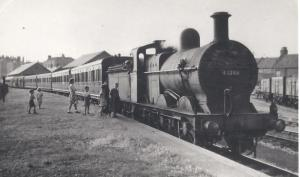 Holidays: the excursion train to Burnham-on-Sea in 1955