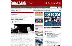 Web Feature Allen Signs