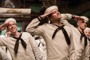 On the town: Burt Gurney (Channing Tatum) looked like Gene Kelly