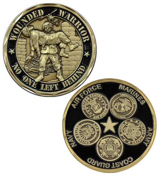 Wounded Warrior Challenge Coin  Military Challenge Coin