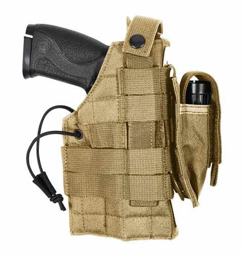 Coyote MOLLE Compatible Tactical Gun Holster