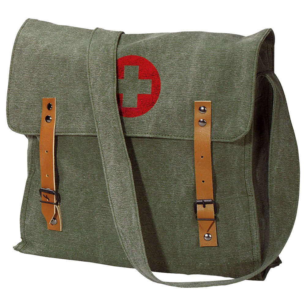 Vintage Canvas Military Medic Bag