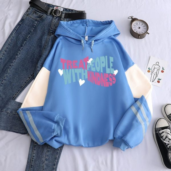 Harry Styles Treat People with Kindness Patchwork Hoodie