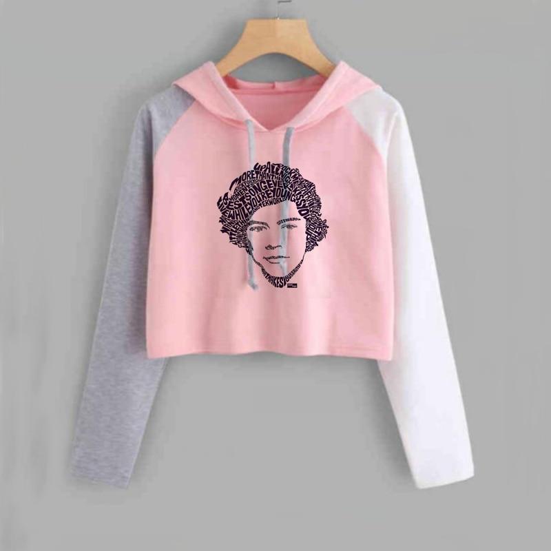 Harry Styles Crop Top Hoodie