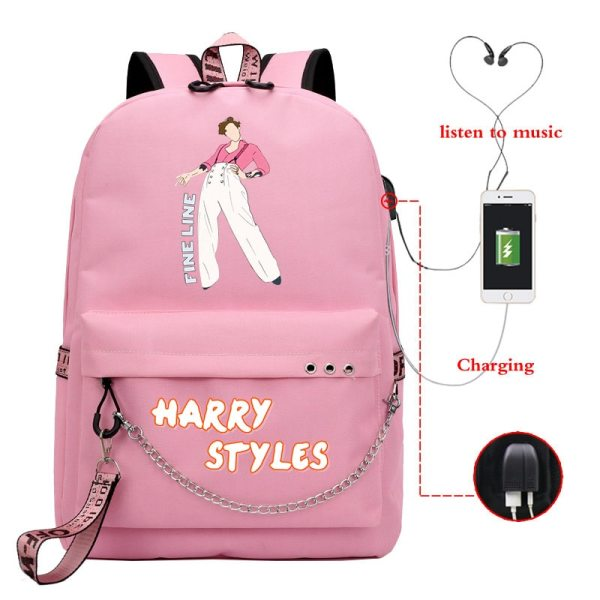 Harry Styles Backpack for Teenage
