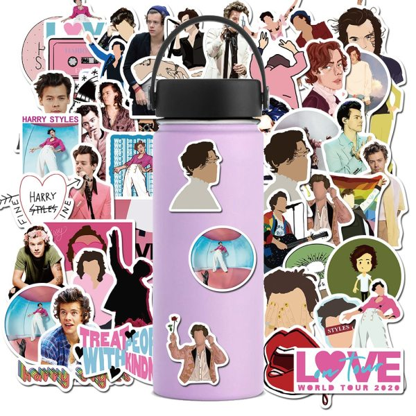 Harry Styles Stickers For Laptop Luggage Bicycle Phone Case Skateboard Pad Waterproof Kids Decal