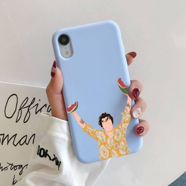 HARRY STYLES WATERMELON SUGAR Liquid Phone Case for iPhone 11 Pro Max XR XS X Soft Candy Cover