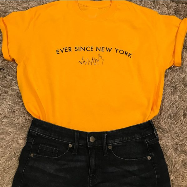New York Yellow T-shirt Inspired By Harry Styles