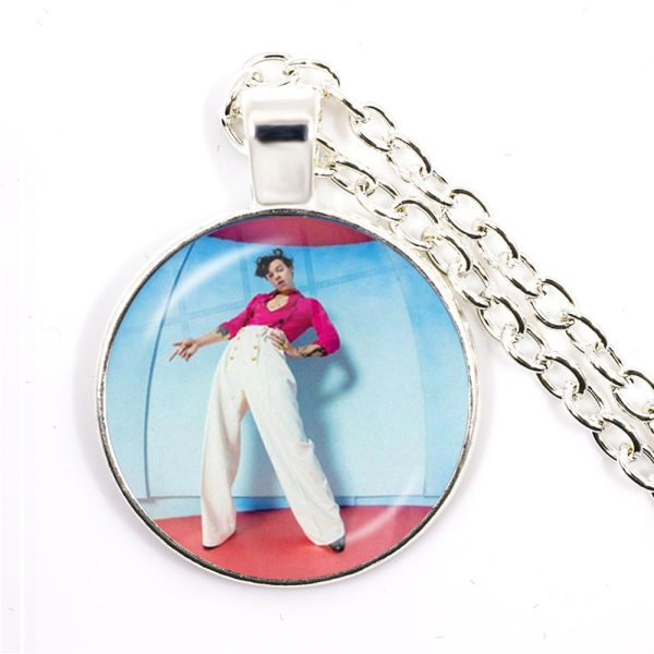 Harry Styles Pendant Necklace 25mm Glass Cabochon Jewelry For Women Men Fans Gift