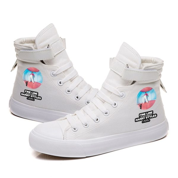 Harry Styles Cool Lace up Canvas Casual Shoes Fashion