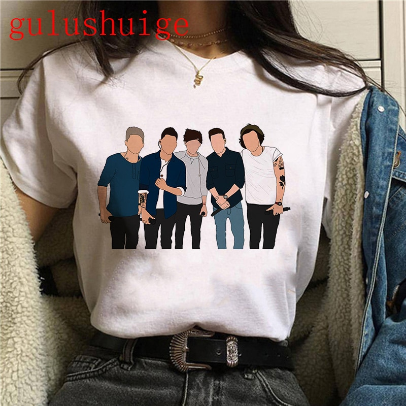 90s Harry Styles Harajuku Graphic Tshirt For Women
