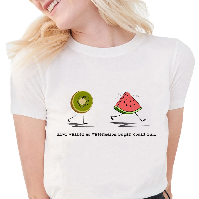 """Harry Styles """"Fine Line"""" Streetwear T-Shirt For Women Short Sleeve T Shirts"""