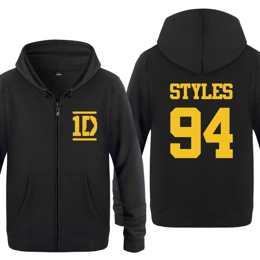 Harry Styles 94 One Direction Music Fleece Zipper Cardigans Hoodies Sweatshirts
