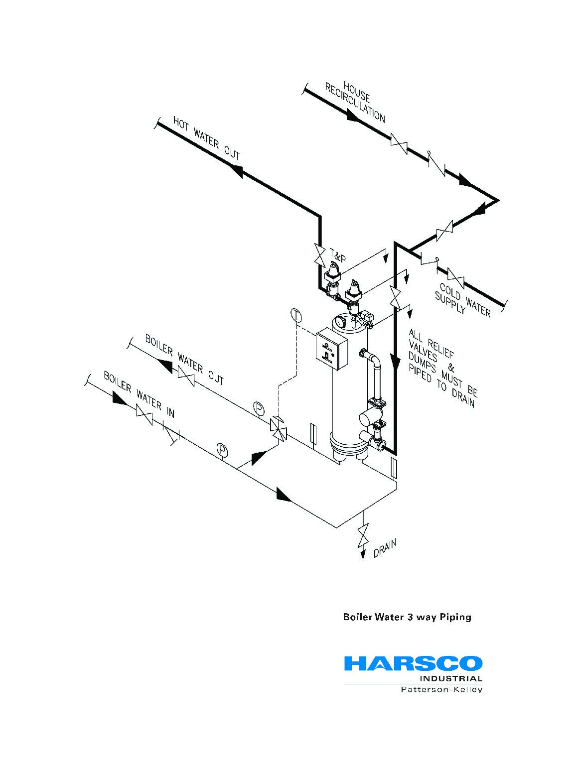 tekmar 4 way mixing valve piping diagram