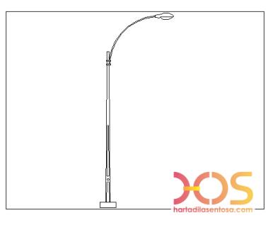 Desain dan Ukuran Tiang Lampu PJU (2)