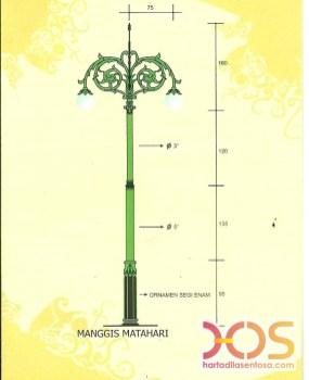 Desain dan Ukuran Tiang Lampu PJU (8)
