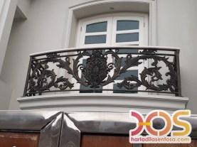 Railing Balkon Besi Tempa Klasik Mewah Modern (106)
