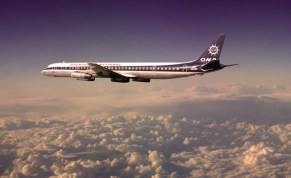 Overseas National Airways DC-8 inflight, circa 1974