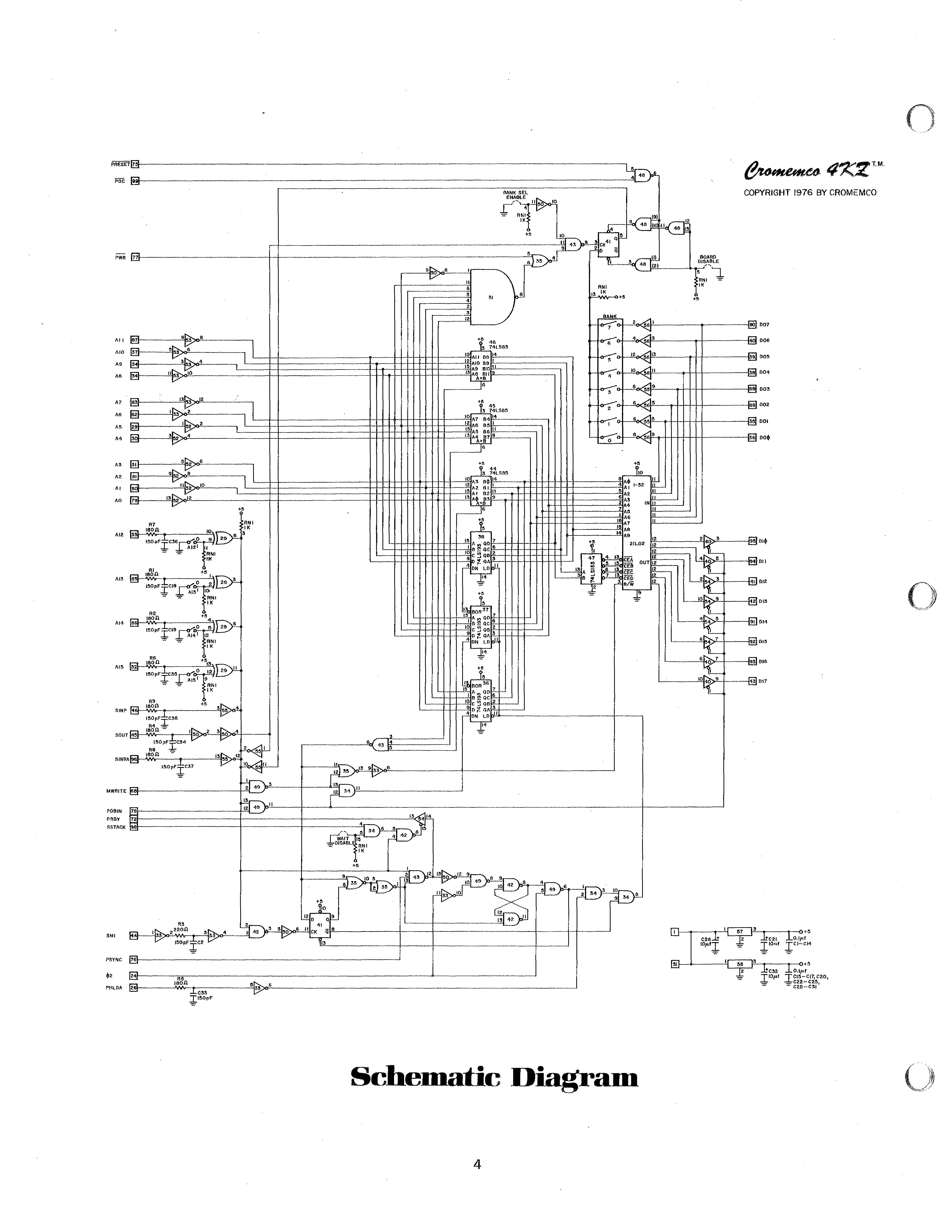 S-100 Bus / IEEE-696 Archive: Cromemco Manuals