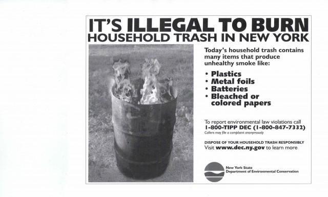No burning garbage 001