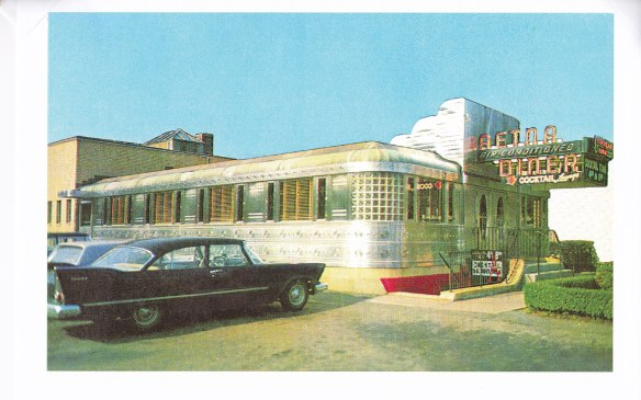 Aetna Diner Comet reprint vintage postcard date unknown