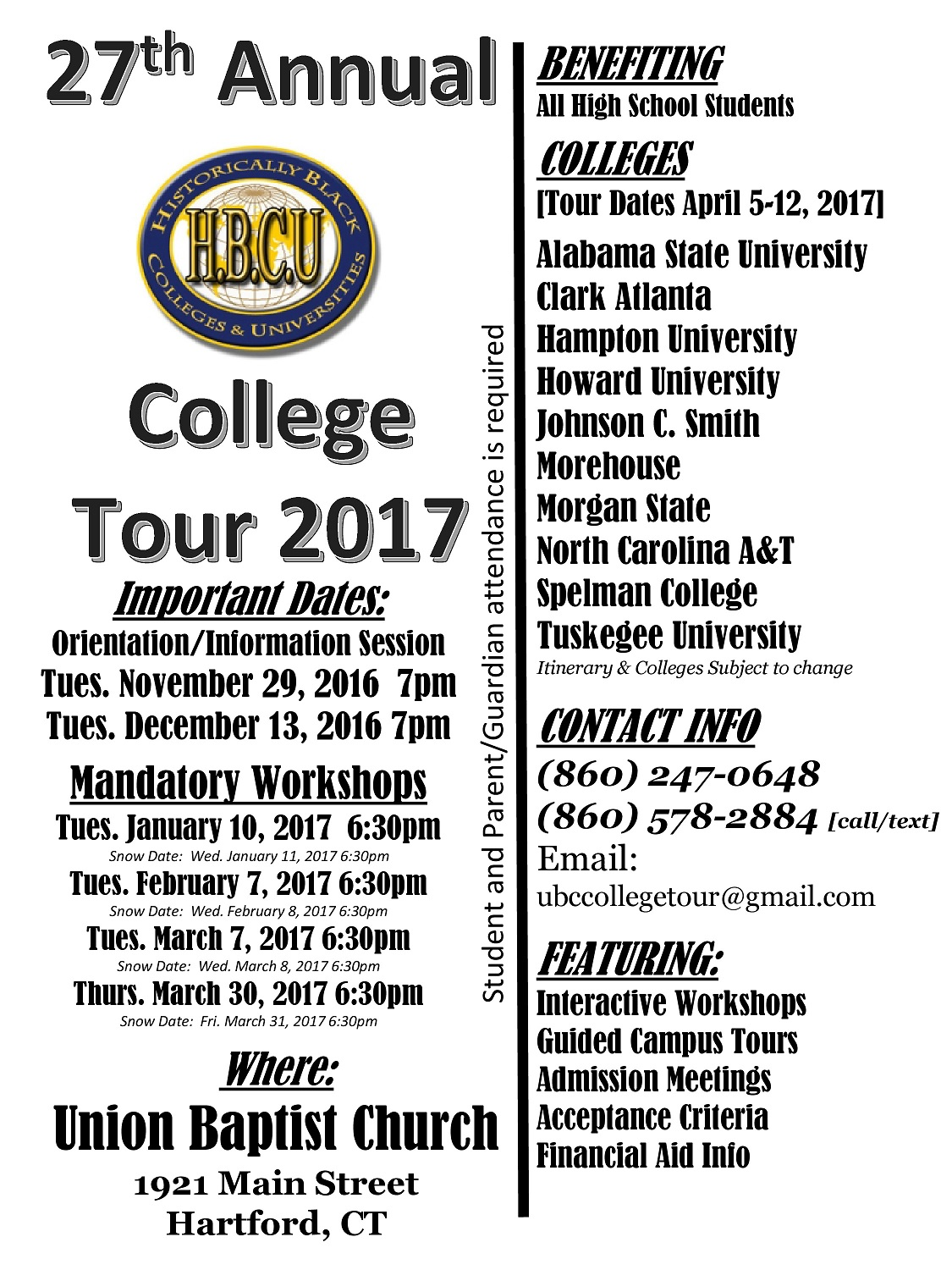 Join the 27th Annual HBCU (Historically Black Colleges