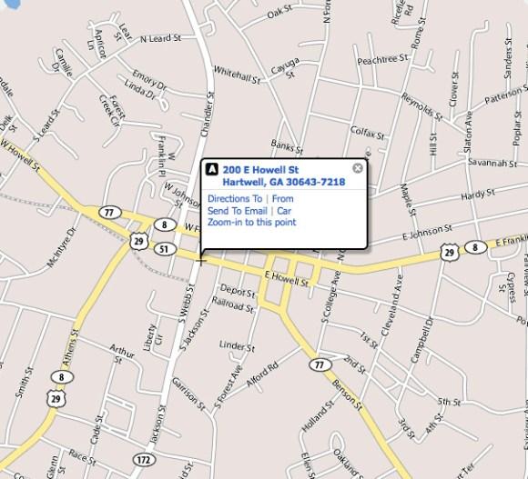 Map : Hartwell First UMC