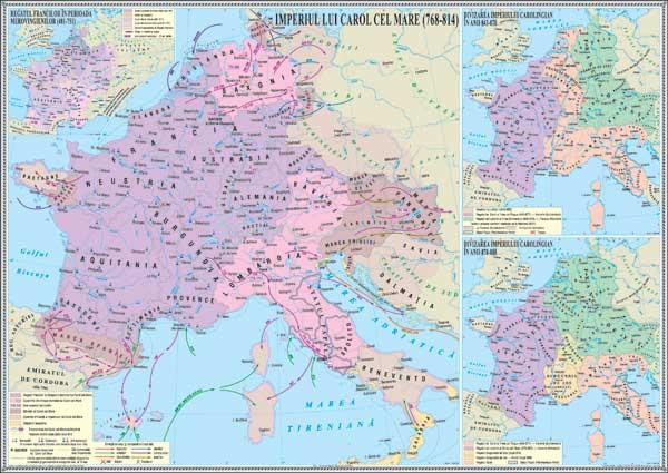 Imagini pentru imperiul lui Carol cel Mare harta