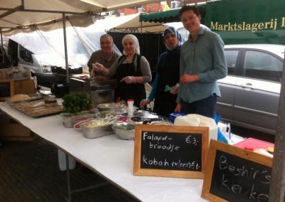 Kraampje op de markt in Delft