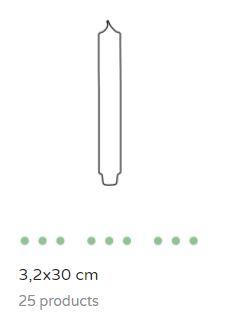 Dinerkaars 3.2 x 30 cm