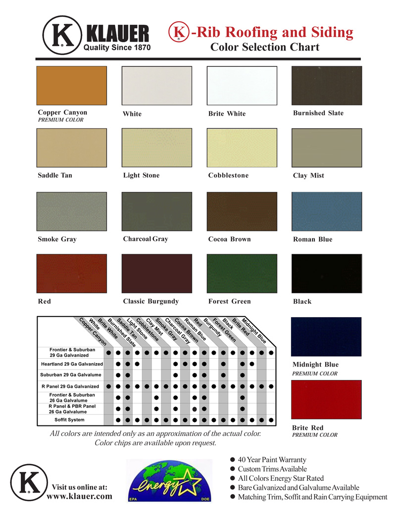 medium resolution of spectracote system color chart