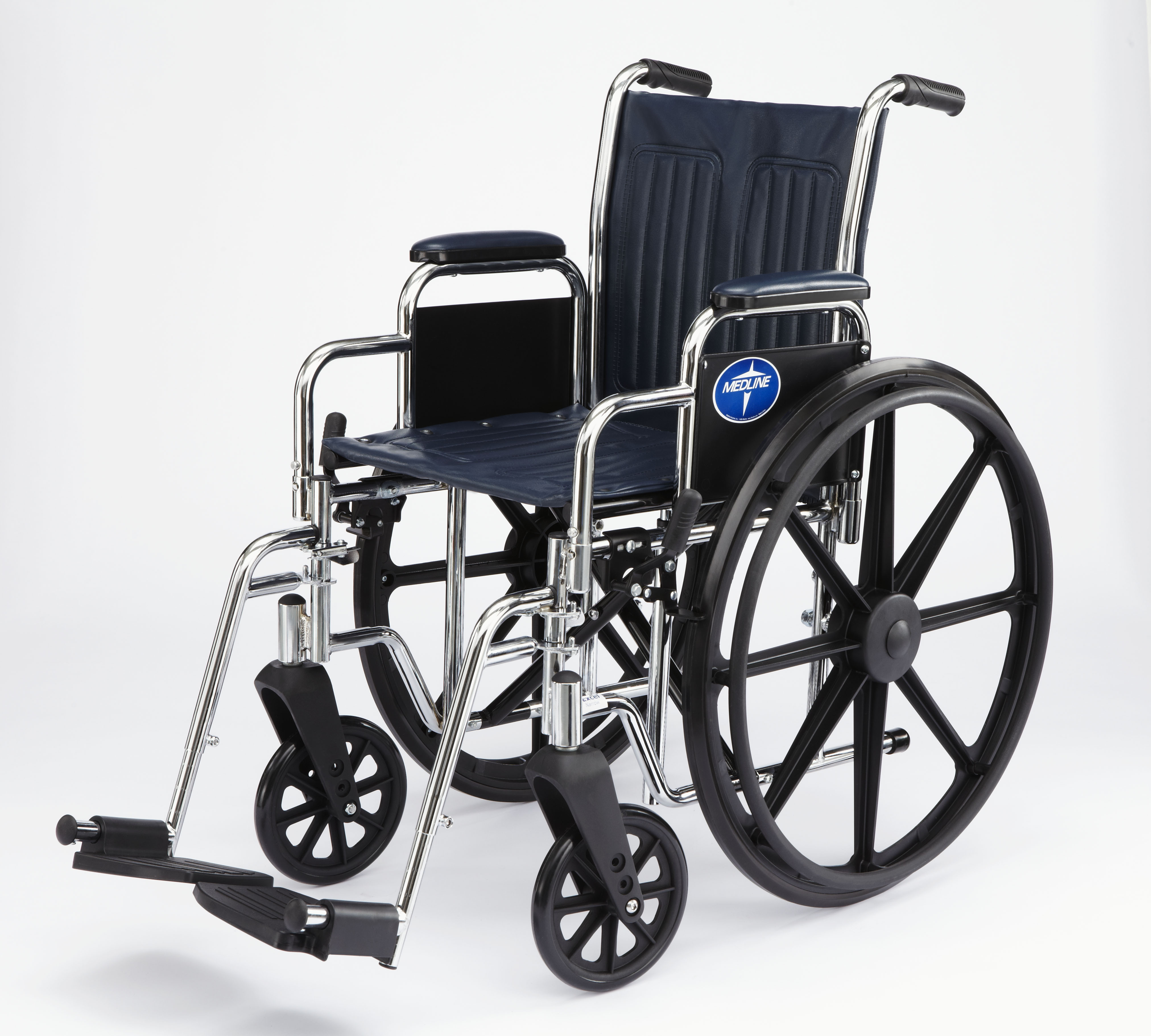 Excel Narrow Wheelchair w Removable Desk Length Arms16in