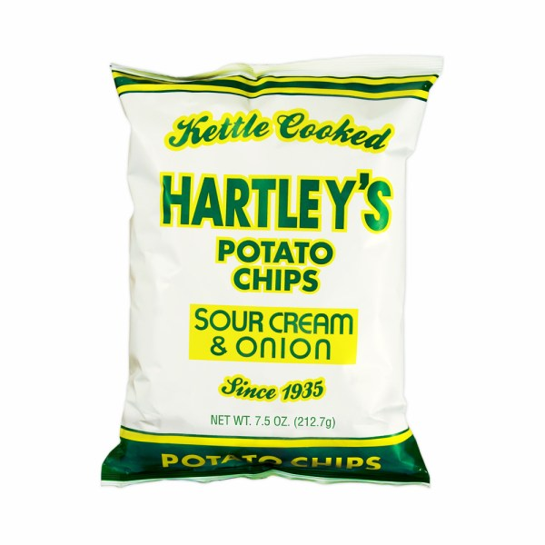 Box of Four 47 75oz Chip Bags Hartleys Potato Chips