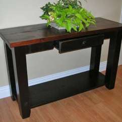 Wood Living Room Furniture Images Of Rooms With Black Leather Mennonite Solid Hart S Country Rough Sawn Pine Sofa Table