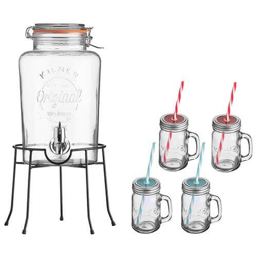 Kilner Drinks Vintage Dispenser Gift Set 0025885