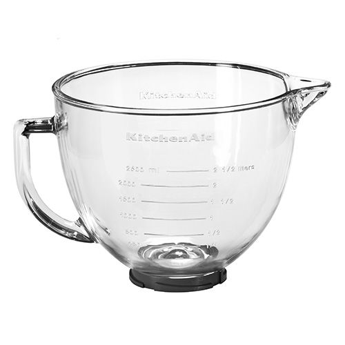 kitchen aid glass bowl taylor timer kitchenaid artisan 4 8 litre with lid harts of stur