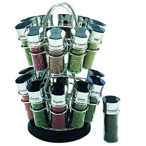 olde thompson flower 20 jar spice rack