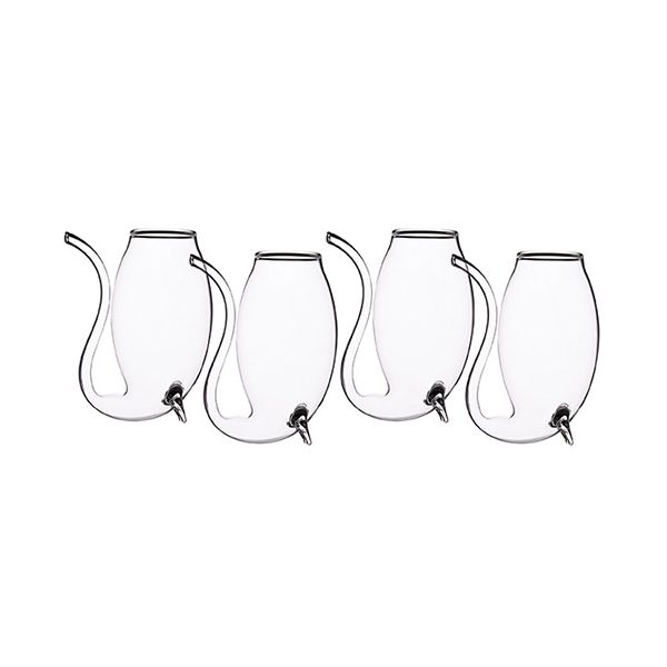 Bar Craft Set Of 4 Glass Port Sippers