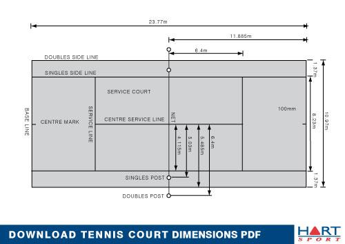 measurement of tennis court with diagram reversing motor starter information hart sport new zealand main menu