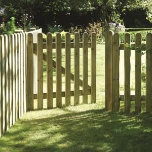 Elite Round Top Picket Panel Gate