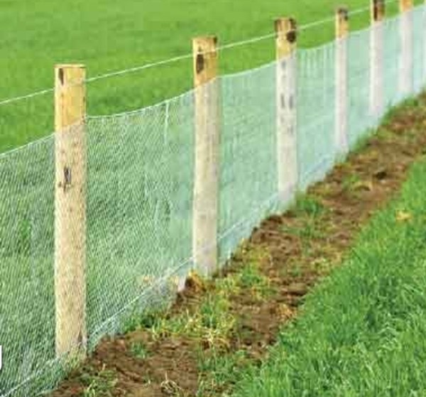 Rabbit netting fence